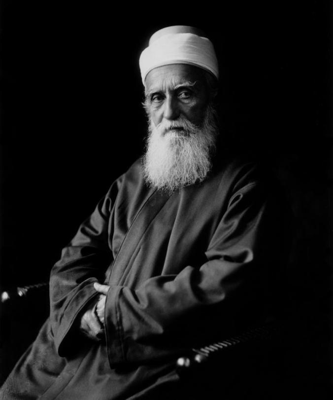Abdu'l-Bahá, image credit http://centenary.bahai.us/photo/formal-portrait-abdul-baha